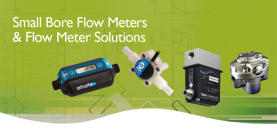 small bore NSF approved liquid fluid flow meters