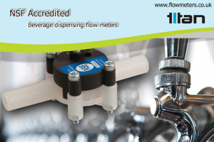 beverage dispensing flow meter